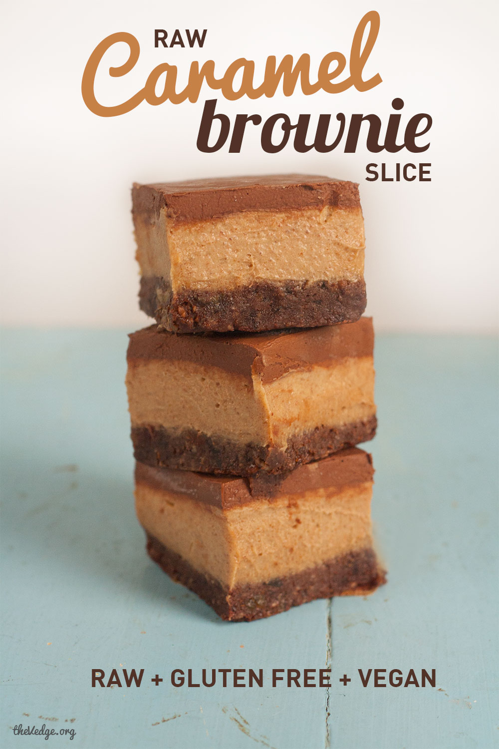 Raw Caramel Brownie Slice