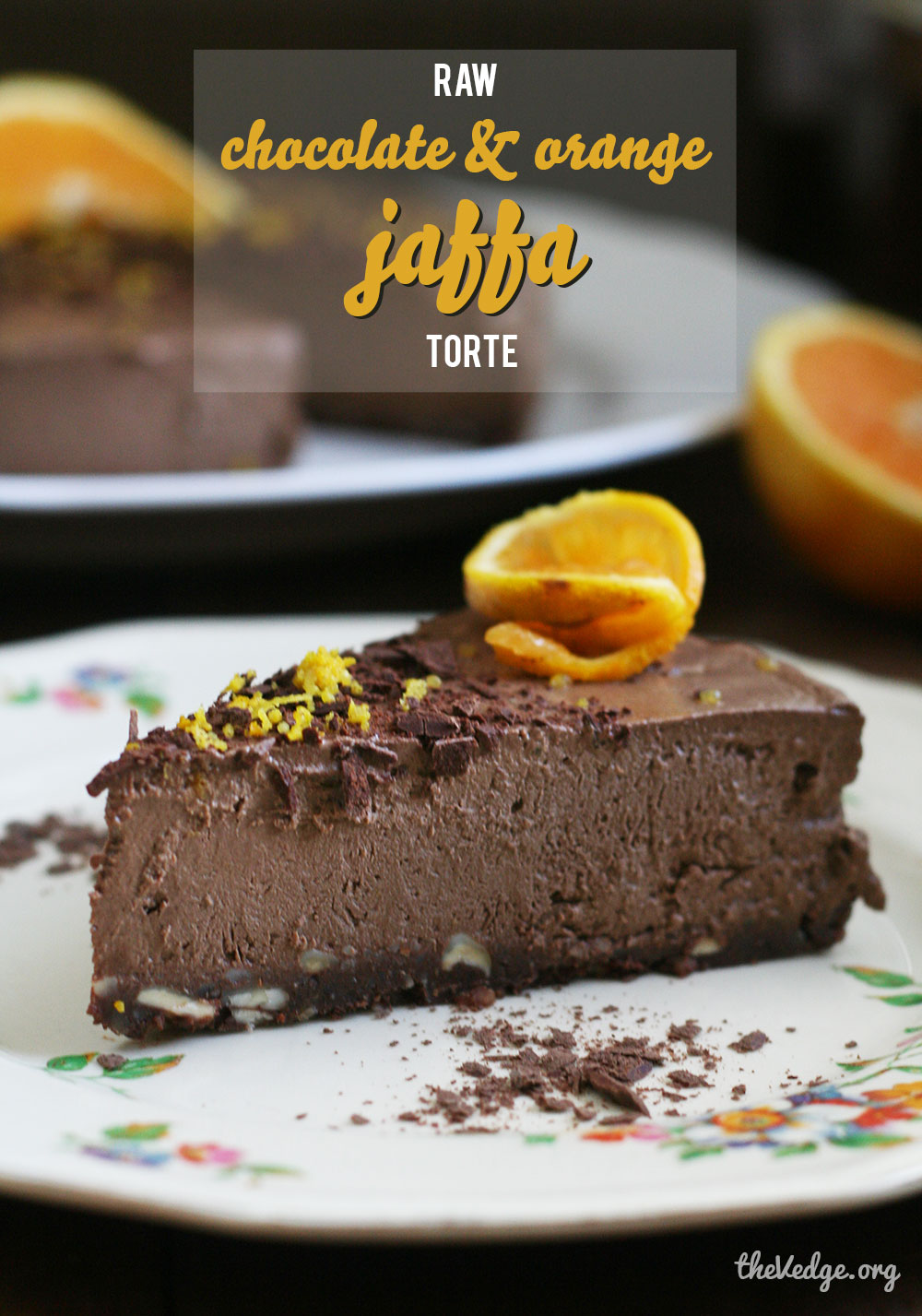 Raw Vegan Jaffa Torte