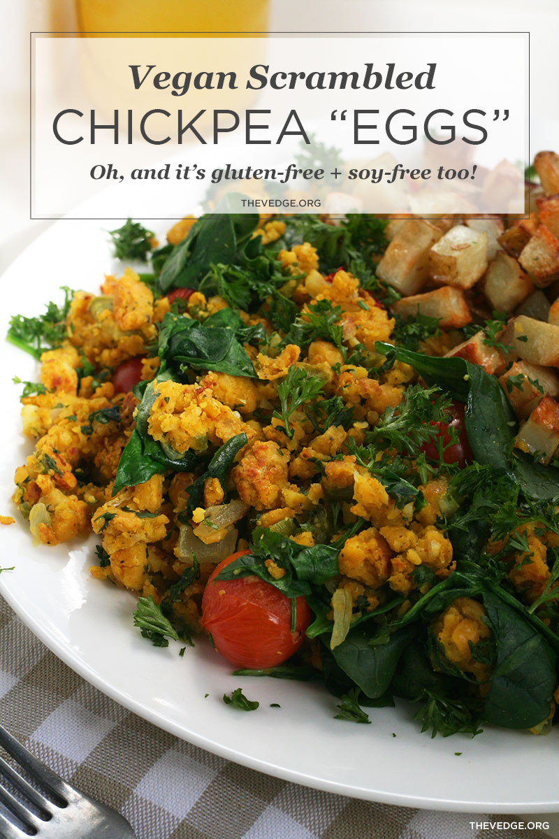 "Vegan Chickpea Scrambled ""Eggs"""