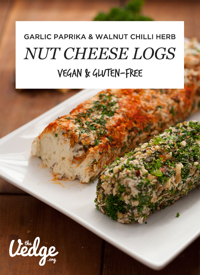 Dairy-Free Nut Cheese Logs