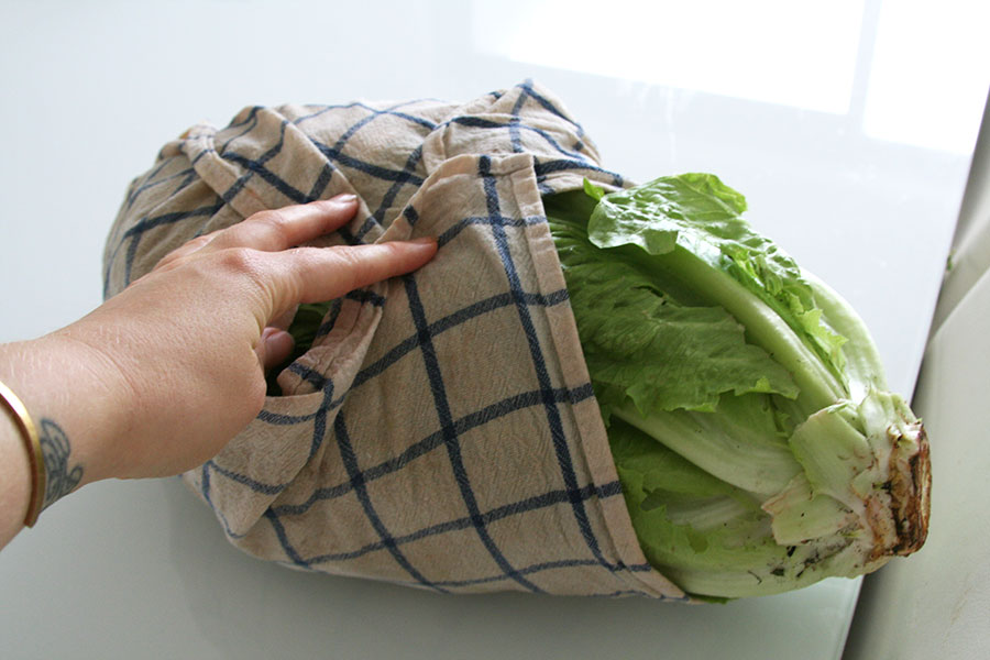 storing greens and lettuce