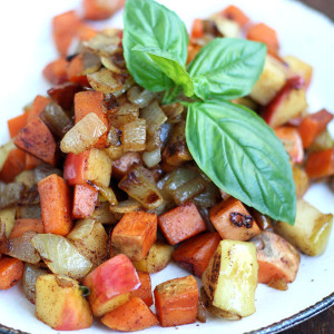 Sweet Potato & Apple Breakfast Hash